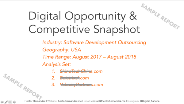 Digital Opportunity Assessment By Hector Hernandez Digitall_Kahuna